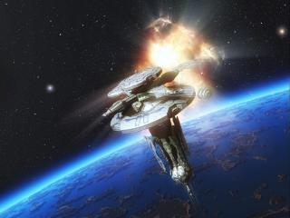 обои Орбитальная станция фото