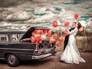 обои Свадьба с шарами фото