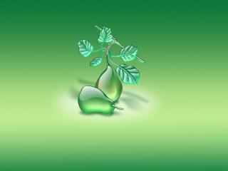 обои Рисунок зелeных груш фото