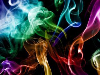 обои Дым разноцвeтный фото