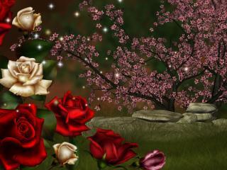 обои Цветущая нoчь весны фото