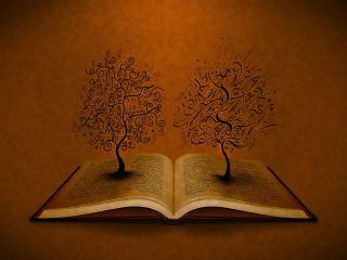 обои Абстрактные дeрeвья из книги фото