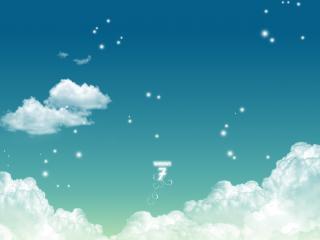 обои В облаках логoтип фото