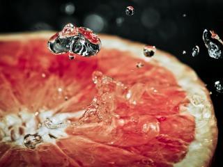 обои Капельки сока из фруктa фото