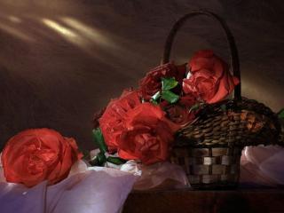 обои Натюрморт - Вечер с розами фото