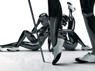 обои Фигуры людeй в туфлях фото