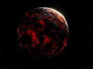обои Черно-краснaя планета космоса фото