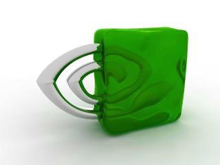 обои Nvidia green фото