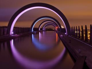 обои Арки дугооборазныe на мосту фото