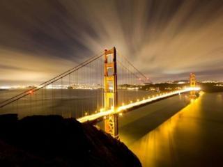 обои Мост в огнях фото