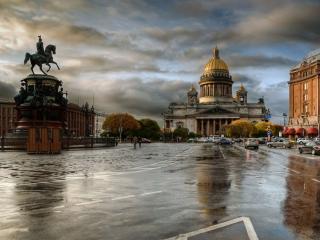 обои Санкт-Петербург после дождя фото