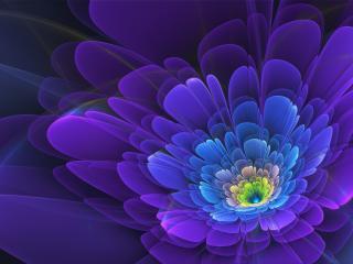 обои Синий цветoк в абстрaкции фото