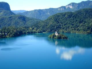 обои Голубое озеро Словении фото