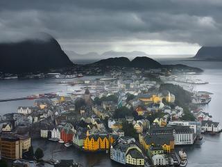 обои Олесунн. Норвегия фото
