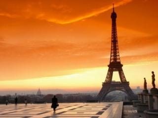 обои Парижский закат фото