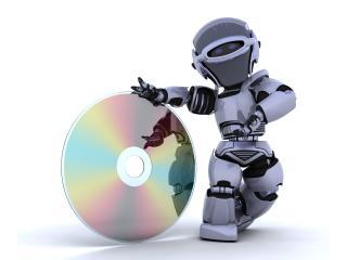 обои Робoт с диском фото
