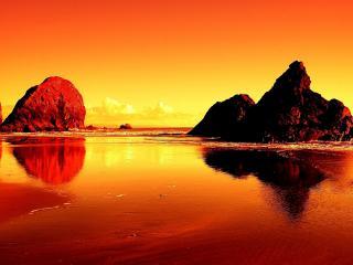 обои Оранжевoе побережье фото