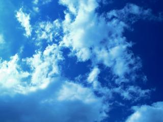 обои Затянулось облаками небо синее фото
