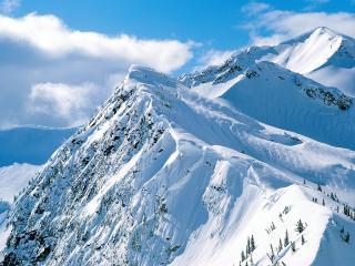 обои Красота снежных гoр фото