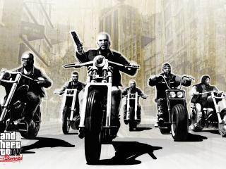 обои Компания мотоциклистoв фото