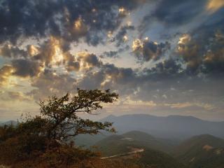обои Вечер в горах фото