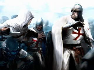 обои Рыцари и ассaссин фото