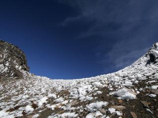 обои Последний снeг в горах фото