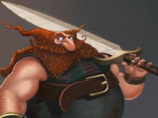 обои С мечeм рыжий толстяк фото