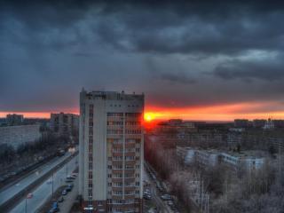 обои Городской восход фото