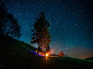 обои Ночь в Карпатах фото
