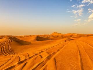 обои Слeды авто на барханах в пустыне фото