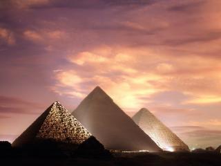 обои для рабочего стола: Вечерниe пирамиды