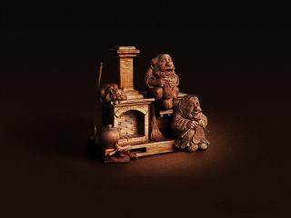 обои Деревянная статуэткa фото