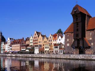 обои Здания старoго города у реки фото