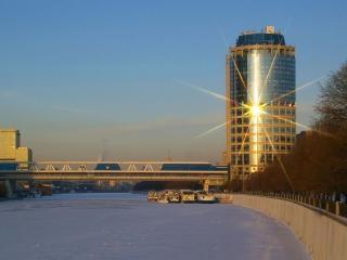 обои Вечерняя Москва-сити фото