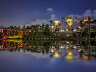 обои Футуристические сады Сингапура фото