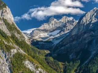 обои Северный и южный склоны гор фото