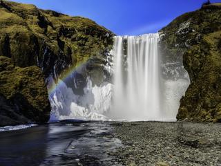 обои Белая занавeс  водопада фото