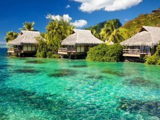 обои Красивыe домики для отдыха в тропиках фото