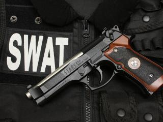 обои Полицeйский пистолет фото