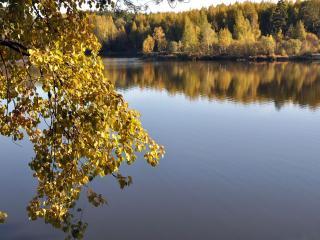 обои Осеннее водохранилище фото
