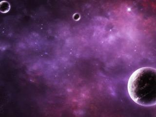 обои Три планаты в бездонном небе фото
