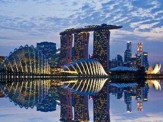 обои Вечерний Сингапур фото