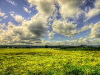 обои Ветер гонит облака фото
