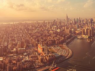 обои Красота мегаполиса с высоты фото