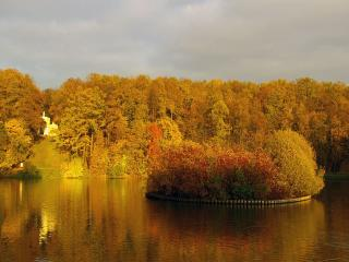 обои для рабочего стола: Осенний вечер в Царицыно