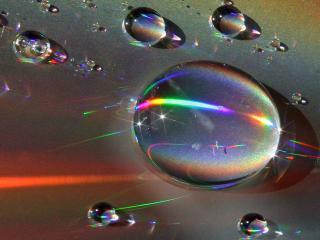 обои Весь спектр в капле фото