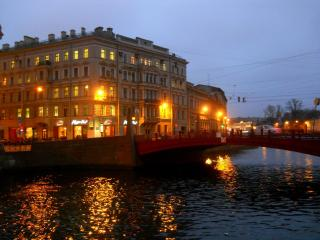 обои Мойка. Красный мост фото