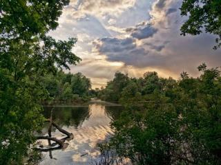 обои Река и небо фото