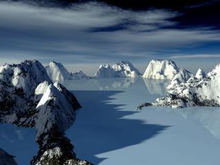 обои Горы в снегу фото